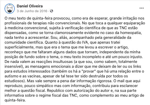 jornalista do expresso daniel oliveira TNC